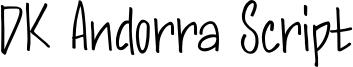 DK Andorra Script Font