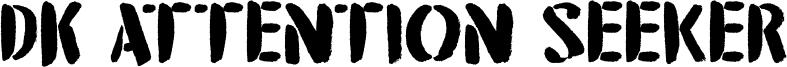 DK Attention Seeker Font