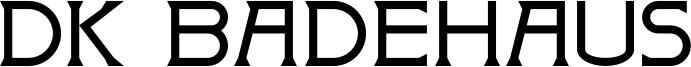 DK Badehaus Font