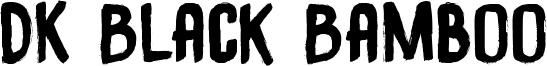 DK Black Bamboo Font