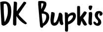 DK Bupkis Font