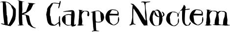 DK Carpe Noctem Font