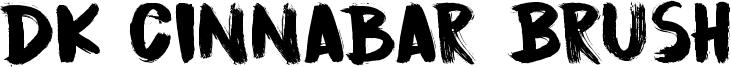 DK Cinnabar Brush Font