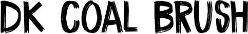 DK Coal Brush Font
