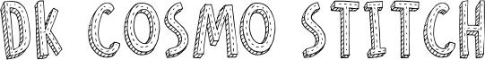 DK Cosmo Stitch Font
