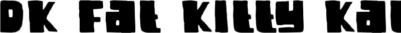 DK Fat Kitty Kat Font