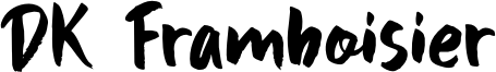 DK Framboisier Font