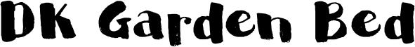 DK Garden Bed Font