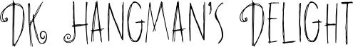 DK Hangman's Delight Font