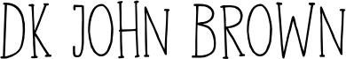 DK John Brown Font