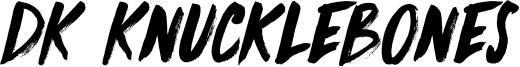DK Knucklebones Font