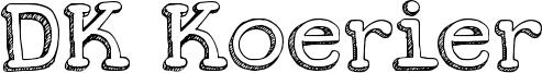 DK Koerier Font