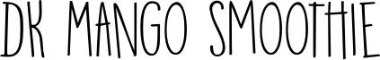 DK Mango Smoothie Font