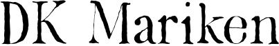DK Mariken Font