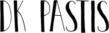DK Pastis Font