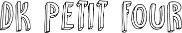 DK Petit Four Font