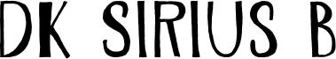 DK Sirius B Font