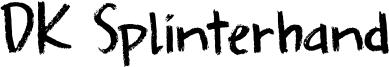 DK Splinterhand Font