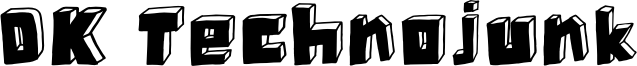 DK Technojunk Font