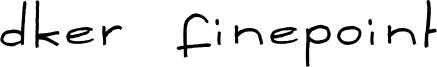 Dker FinePoint Font