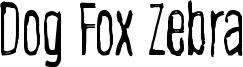 Dog Fox Zebra Font