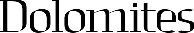 Dolomites Font