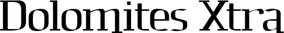 Dolomites Xtra Font