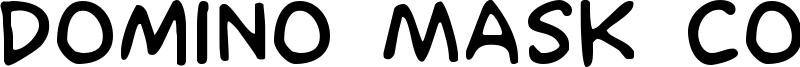 Domino Mask Condensed Font