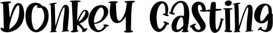 Donkey Casting Font