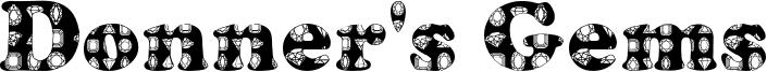 Donner's Gems Font