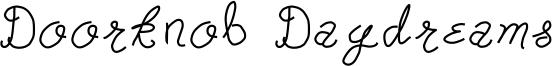 Doorknob Daydreams Font