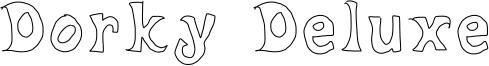 Dorky Deluxe Font