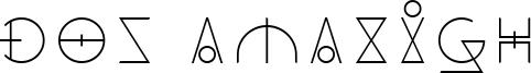 Dos Amazigh Font