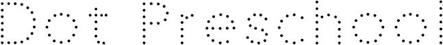 Dot Preschool Font