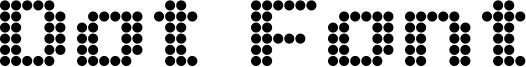 Dot Font Font