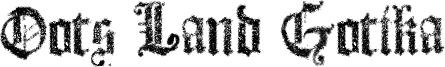 Dots Land Gotika Font