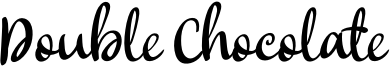 Double Chocolate Font