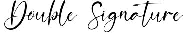 Double Signature.otf