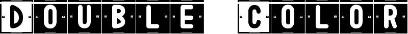 Double Color St Font