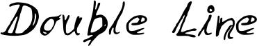 Double Line Font