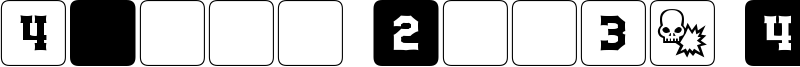 dPoly Block Dice Font