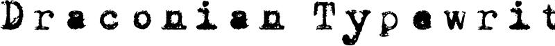 Draconian Typewriter Font