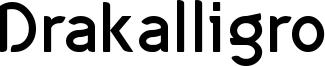 Drakalligro Font