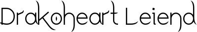 Drakoheart Leiend Font