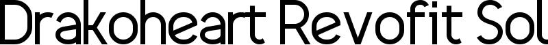 Drakoheart Revofit Solid Font