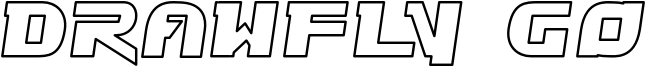 Drawfly Go Font