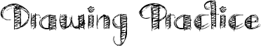 Drawing Practice Font