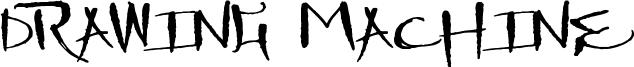 Drawing Machine Font