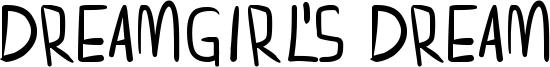 Dreamgirl's dream Font