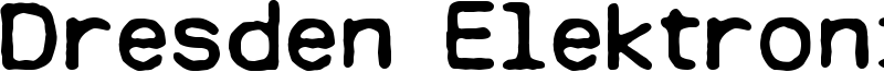 Dresden Elektronik Font